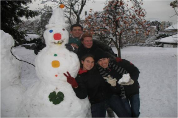 Premier bonhomme de neige...