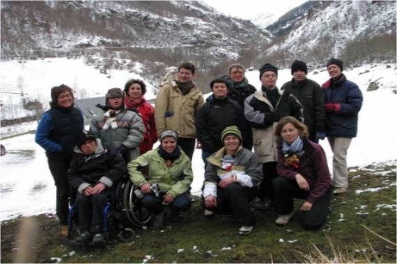 Sortie de ski dans les Pyrénées en février 2010