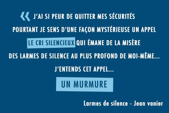 citation jean vanier larmes de silence