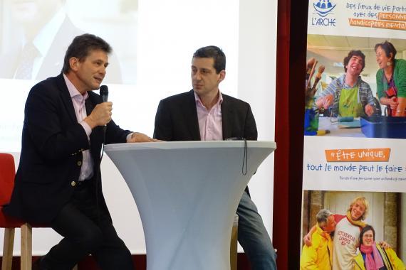 henri de castries prenant la parole aux EDC de Picardie à L'Arche à Trosly