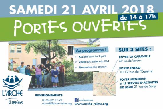 Programme Portes ouvertes de L'Arche à Reims - 21 avril 2018