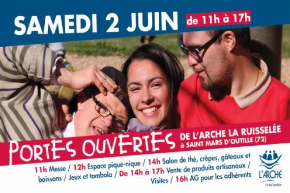 Programme Portes ouvertes de L'Arche La Ruisselée - 2 juin 2018