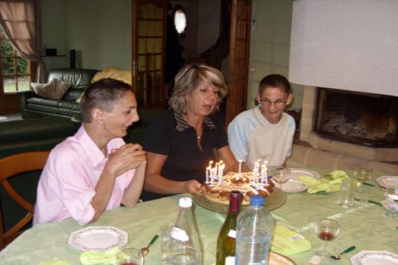 Anne Witry et ses enfants