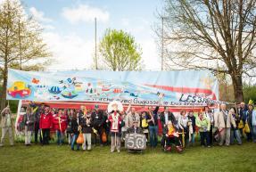 La communauté à Paray le Monial, pour les 50 ans de L'Arche (mai 2014)
