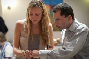 Léa et Renaud, lors de l'inauguration de Philae